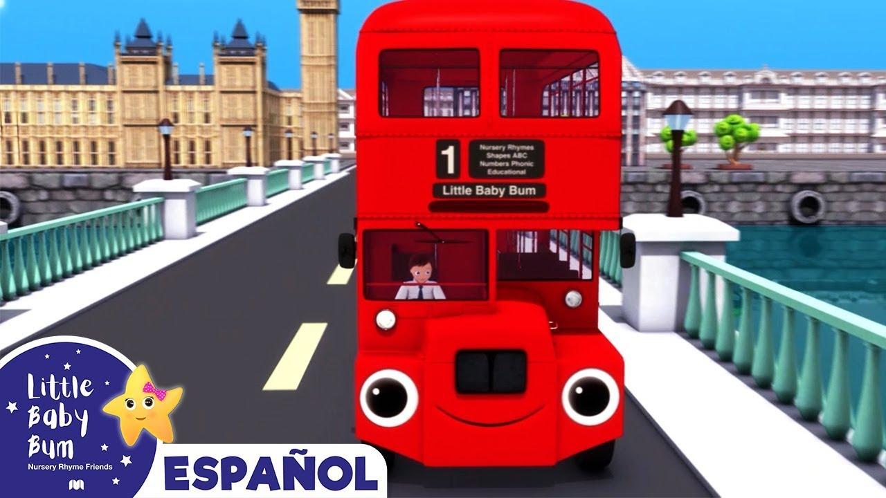 Las Ruedas del Autobus de Londres | Canciones Infantiles | Dibujos Animados | Little Baby Bum Latino