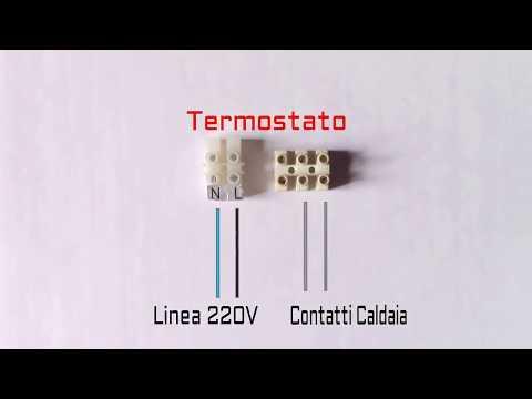 Schema Collegamento Di Termostati A Elettrovalvole E Caldaia : Collegare qualsiasi termostato ambiente di casa youtube