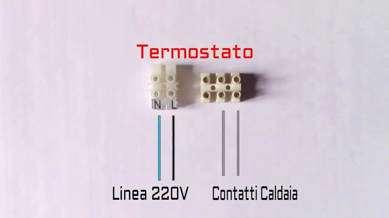 collegare nuovo termostato