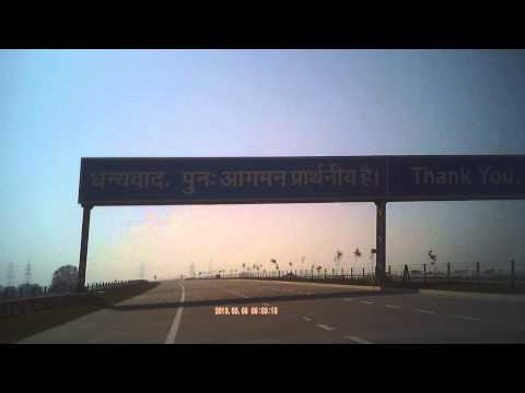 End of Yamuna Express Way Delhi to Agar Highway parallel to National Highway NH-2 India