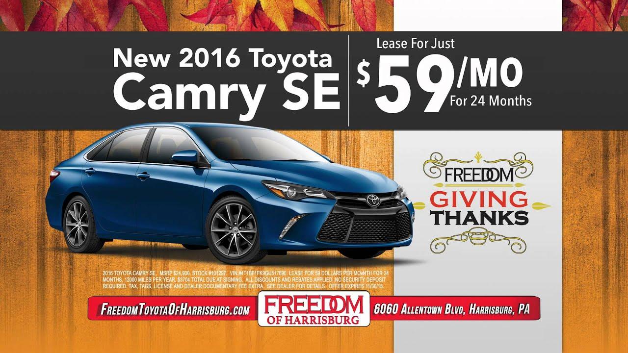 Freedom Toyota Harrisburg   Harrisburg, PA   2016 Toyota Camry SE