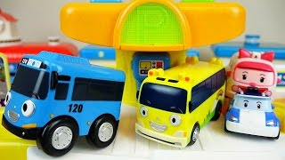 Tayo bus Parking tower & Robocar Poli car toys