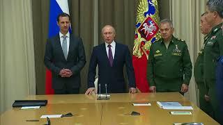 Russian President Vladimir Putin hosts Syria