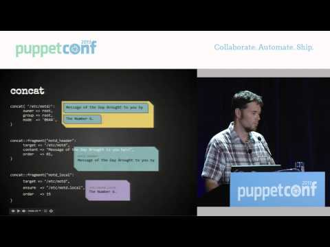 Using Puppet to Create a Dynamic Network - PuppetConf 2013