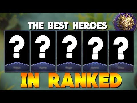 TOP 5 BEST Heroes in Ranked Mobile Legends Mythic!