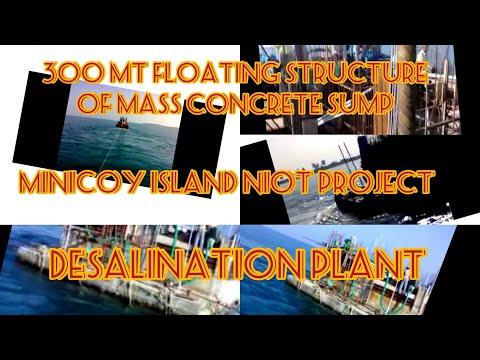 FLOATING CONCRETE STRUCTURE AT MINICOY DESALINATION PLANT