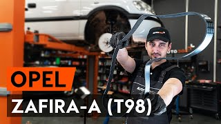 How to replace Serpentine belt OPEL ZAFIRA A (F75_) Tutorial