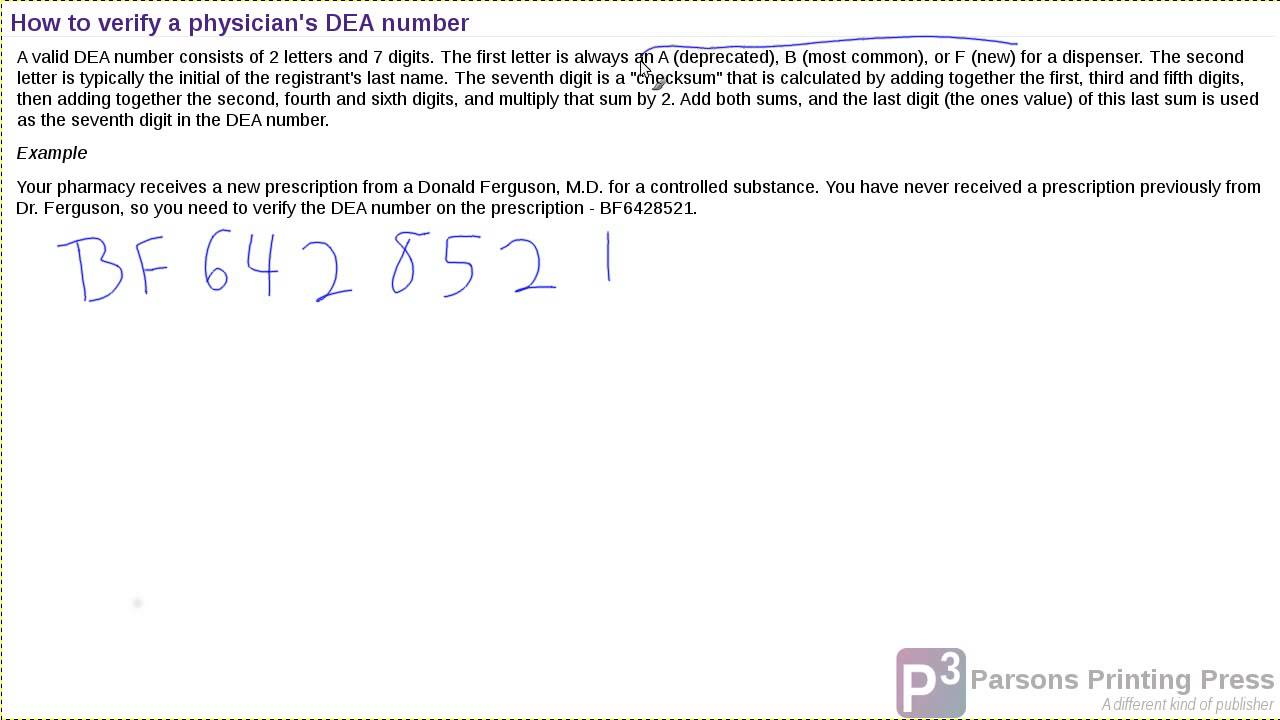 How To Verify A Physicians Dea Number Youtube