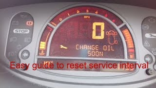 megane 2017 service reset