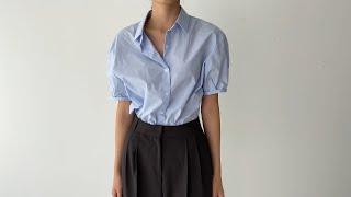 여름코디❣ 반팔셔츠 와이드슬랙스 | 사색 쇼핑몰 여름코…