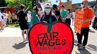 Marchers demand more protections for migrant workers after COVID-19 outbreaks on farms
