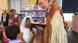 Great Yarmouth school holds a royal wedding