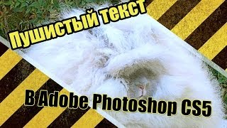 Урок №5 по Adobe Photoshop CS5 [Пушистый текст]