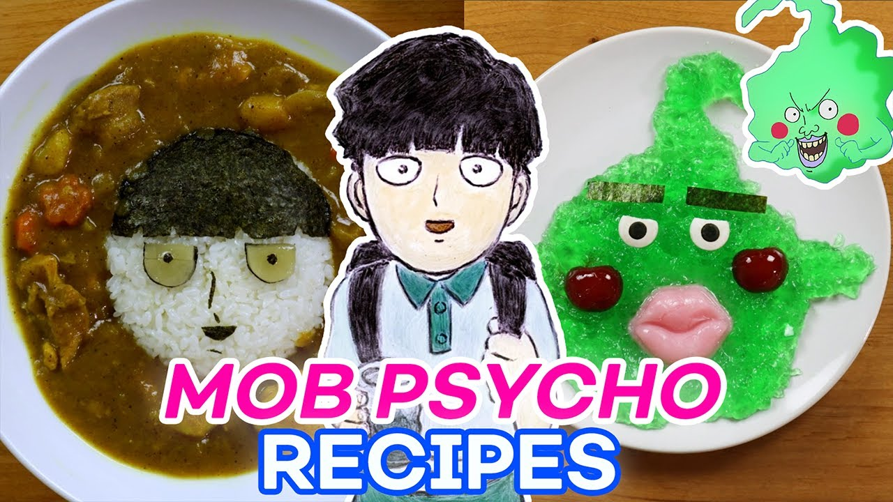 Mob Curry and Dimple Dessert | Cooking with Anime
