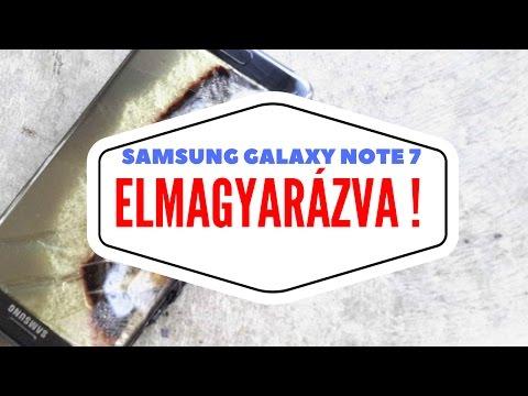Felrobbanó Samsung Galaxy Note 7 - ELMAGYARÁZVA!