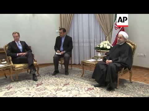 Visiting FM Brend holds talks with President Rouhani