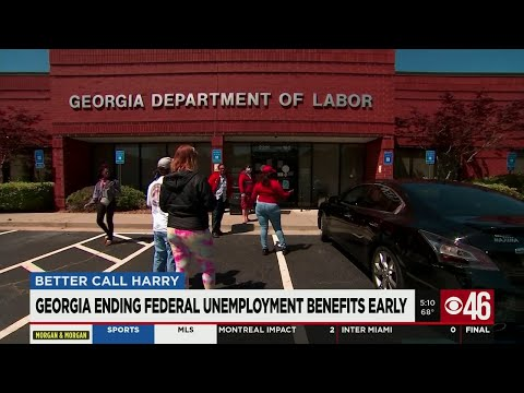 Georgia ending federal unemployment benefits early