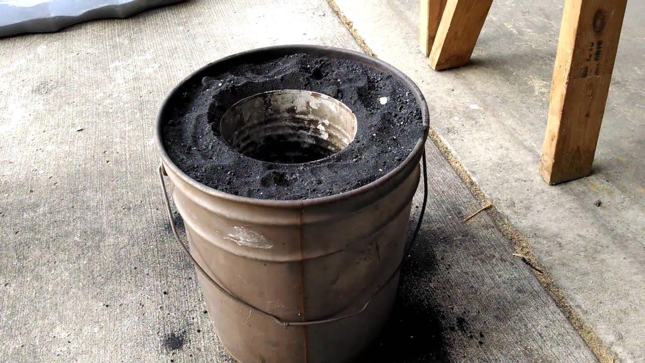 aluminum melting charcoal furnace
