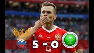 Russie - arabie saoudite (5-0) | résumé commentaires français