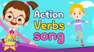 Action Verbs Song - Educational Children Song - Learning English for Kids