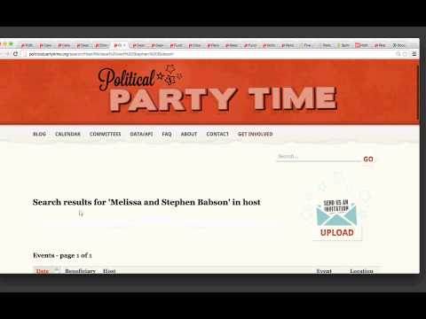 Uncover Political Fundraisers for Election 2016 and beyond with Political Party Time