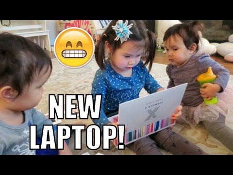 Their Very Own Laptop! - January 21, 2016 -  ItsJudysLife Vlogs