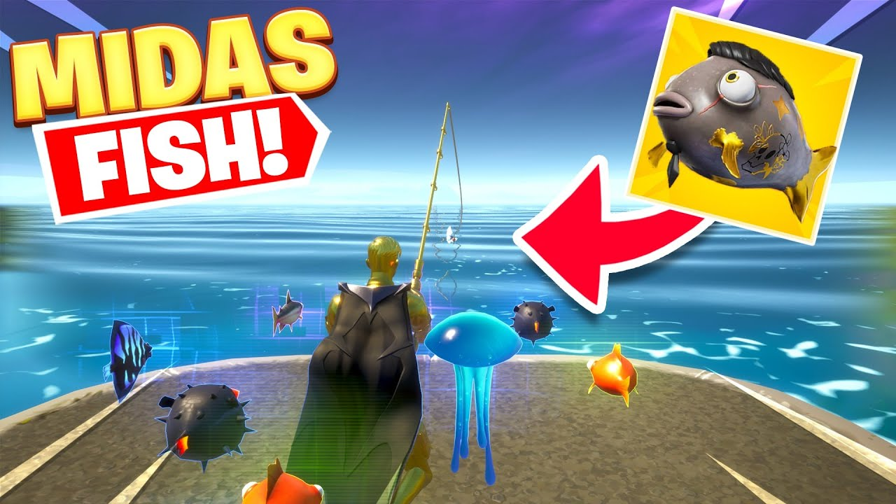 I caught the MIDAS FISH in Fortnite...