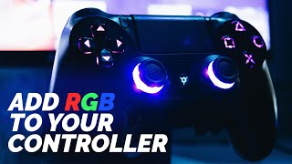 The Most Overkill PS4 Controller RGB Mod!