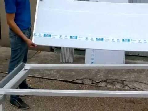Cobertura em policarbonato instala o de policarbonato for Kit para toldos de enrollar
