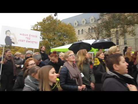 Czarny Protest 24 października 2016 roku w Poznaniu/ Black Protest in Poznan