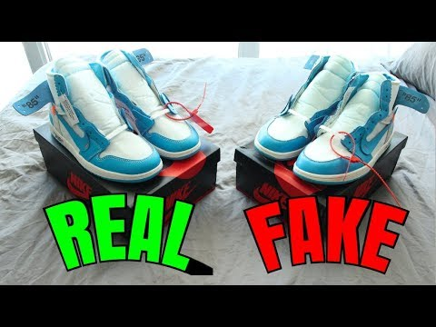 HOW TO: Tell If Your Jordan 1 Off White UNC Are REAL Or FAKE (Comparison)