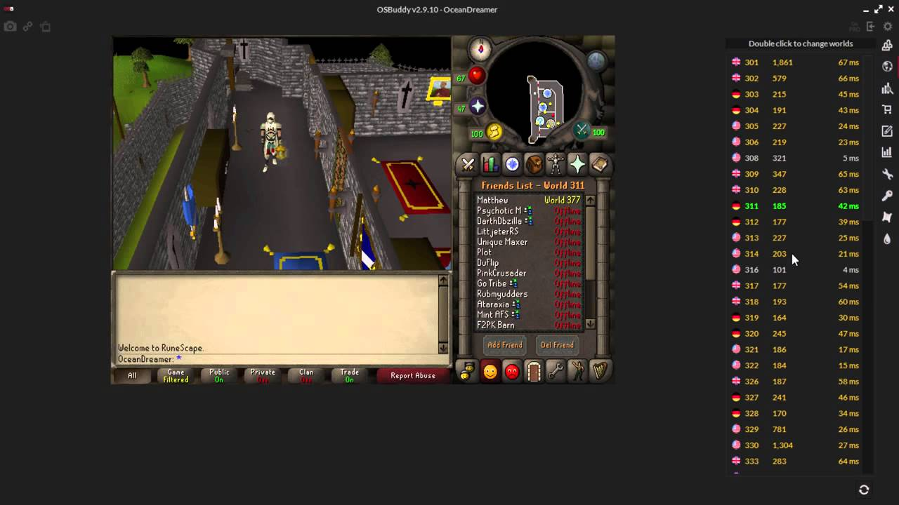 Runescape 2007 - Official OSBuddy Tutorial - Fast WorldHopping, Massive  Exp, More!