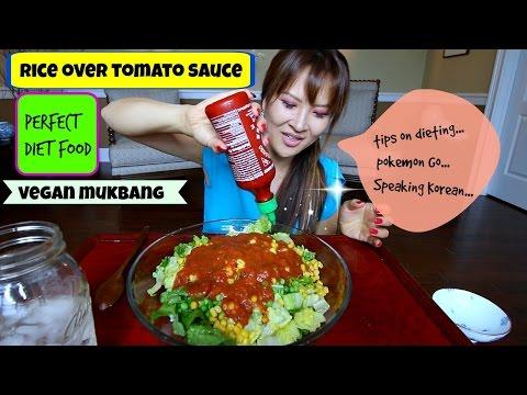 TOMATO SAUCE OVER RICE • Mukbang & Recipe