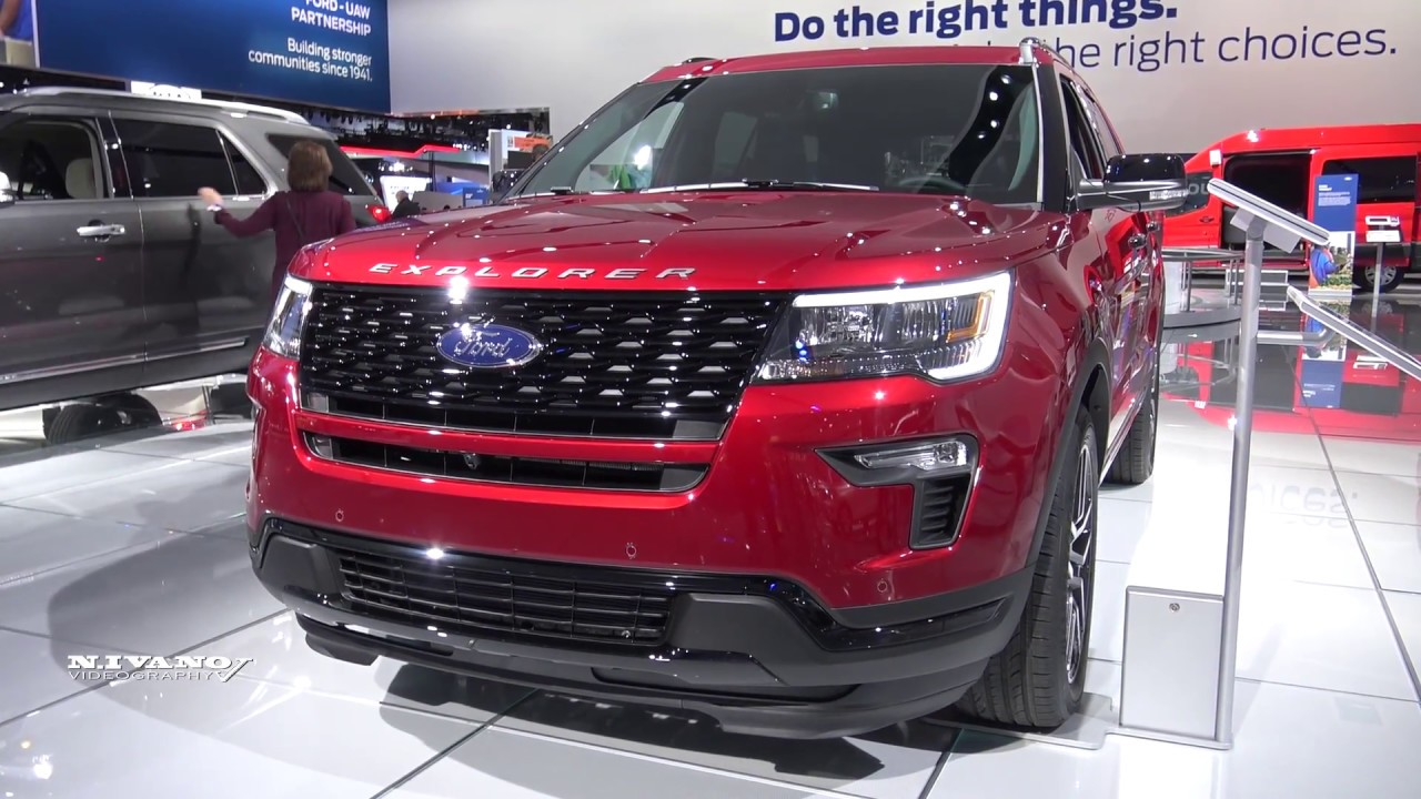 2018 Ford Explorer Sport - Exterior And Interior Walkaround - 2018 Detroit Auto Show - YouTube
