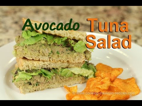 Tuna Salad Sandwich | Avocado Instead Of Mayo - Healthy