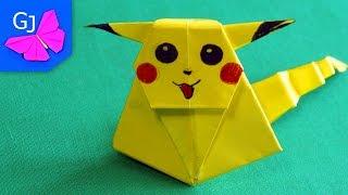 Оригами ПИКАЧУ из бумаги ❤️ Как сделать оригами закладку Покемон