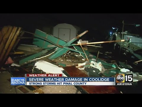 Severe weather damage in Coolidge