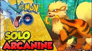 SOLO ARCANINE SÓ COM GYARADOS  - Pokémon Go |  Derrotando Raid Boss (Parte 38)