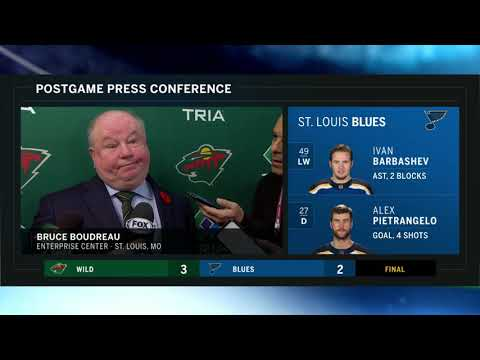 Wild - VIDEO: Bruce Boudreau reacts to historic MN Wild road trip...
