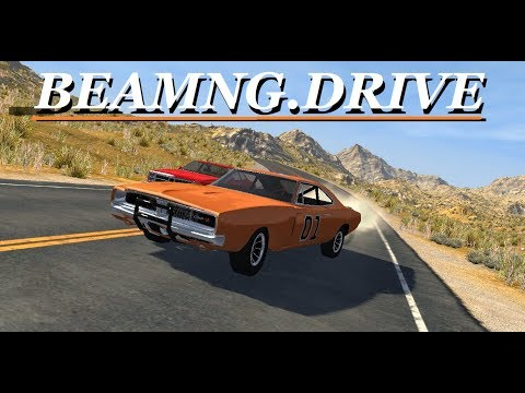 General Lee Road Racing / Times Trials and Chase - BeamNG.Drive