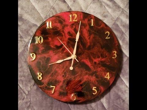 Resin Art Clock