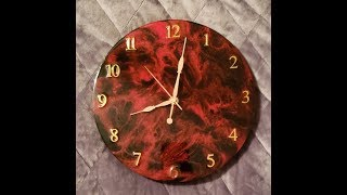 Resin Art Clock