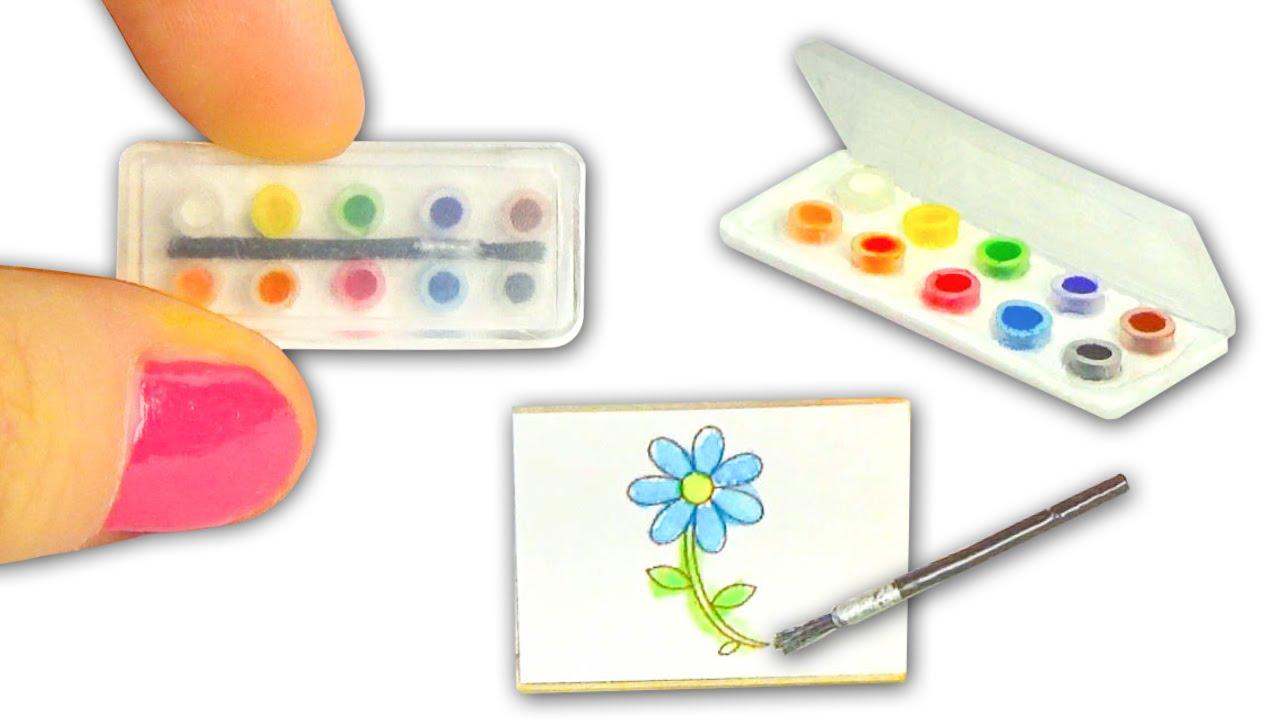 Miniature Watercolor Set DIY Actually Works