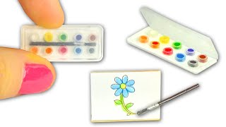 Miniature Watercolor Set DIY (actually works!) - Art Supplies - YolandaMeow?
