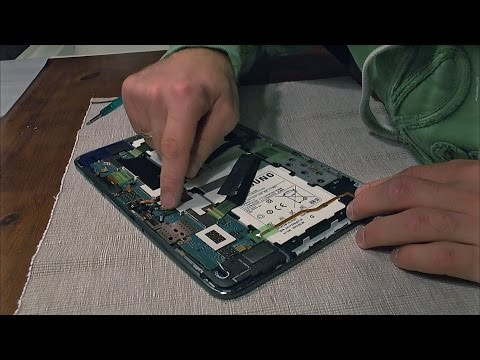 How to replace the battery of a Samsung Note 10.1 tablet (for dummies)
