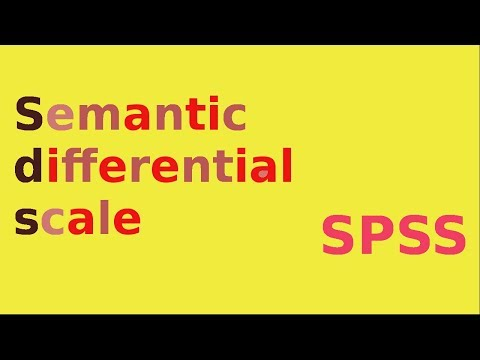SPSS for newbies - semantic differential scale data entry and analysis