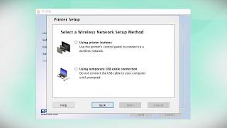 Epson EcoTank ET-2650   Wireless Setup Using the Printer's Buttons