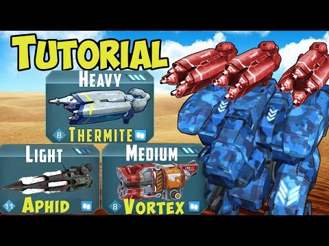 War Robots THERMITE VORTEX APHID Tutorial 17 Tips & Tricks Gameplay WR