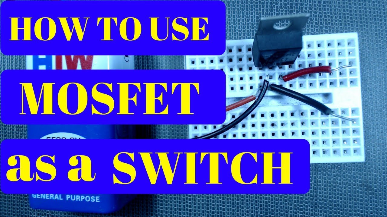 How To Use Mosfet As A Switch Youtube Circuit Protection Turns Off The Pchannel And
