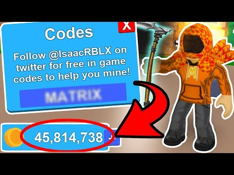 20+ FREE CODES for Mining Simulator 2018! (Legendary Skins ...
